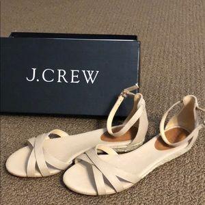 Jcrew Marina mini wedge sandals